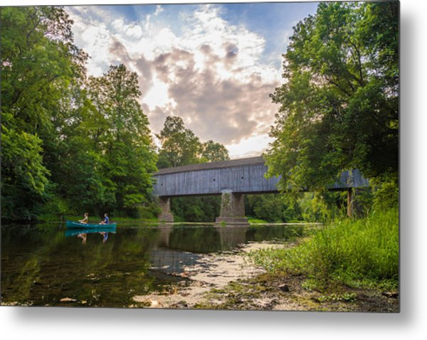 Good To Canoe Metal Print
