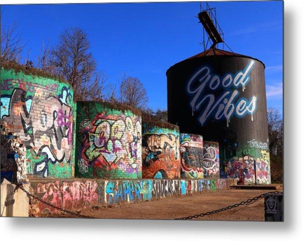 Good Vibes Asheville North Carolina Metal Print