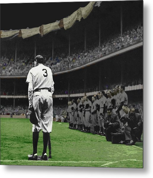 Goodbye Babe Ruth Farewell Metal Print