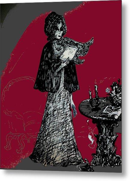 Goodbye Letter Metal Print by Rae Chichilnitsky