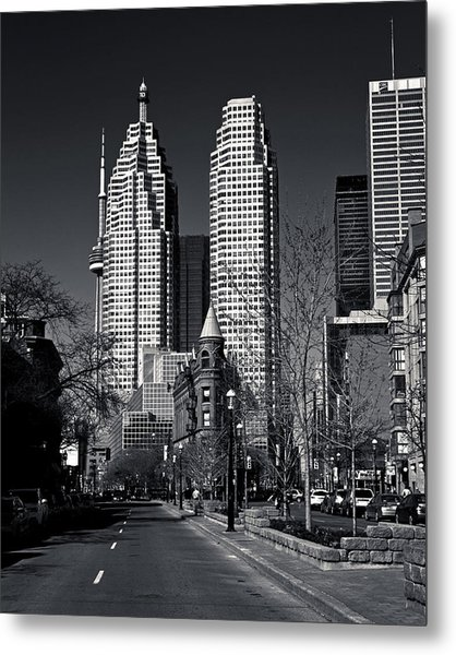 Metal Print featuring the photograph Gooderham Flatiron Building And Toronto Downtown by Brian Carson