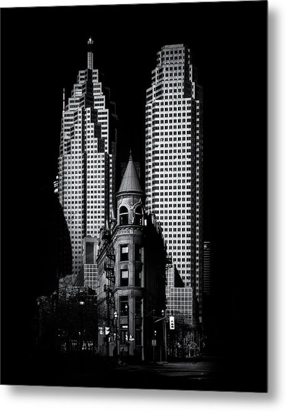 Gooderham Flatiron Building And Toronto Downtown No 2 Metal Print