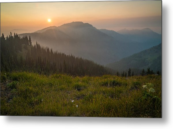 Goodnight Mountains Metal Print