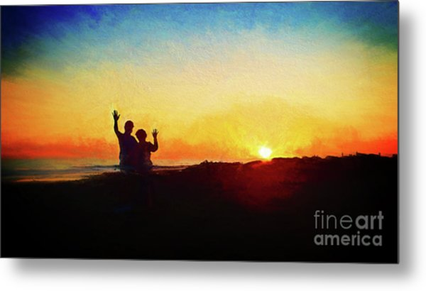 Goodnight Mr. Sun  Metal Print