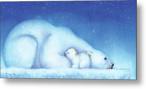 Arctic Bears, Goodnight Nanook Metal Print