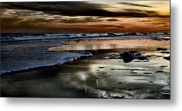 Goodnight Sun Isle Of Palms Metal Print