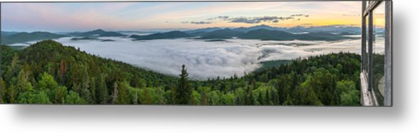 Goodnow Mountain Panorama Metal Print