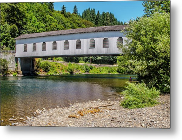 Goodpasture Covered Bridge Metal Print