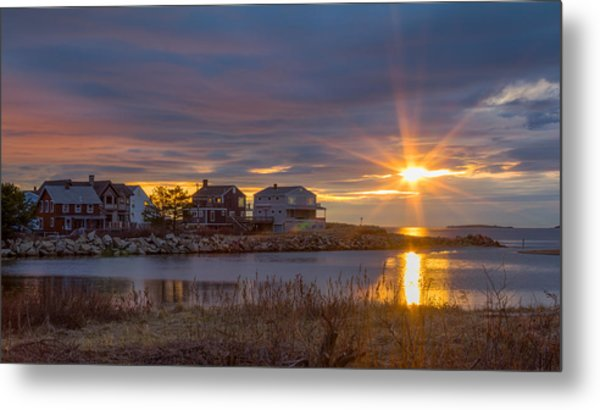 Goosefare Brook Sunrise - Saco Maine Metal Print