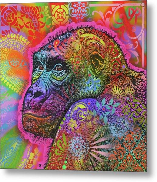 Gorilla Metal Print by Dean Russo Art
