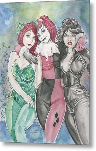 Gotham City Sirens Metal Print