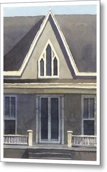 Gothic American, New Harmony, In Metal Print