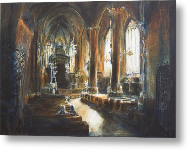 Gothic Church Metal Print by Nik Helbig