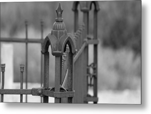 Gothic Ornamental Fence In Boothill Metal Print