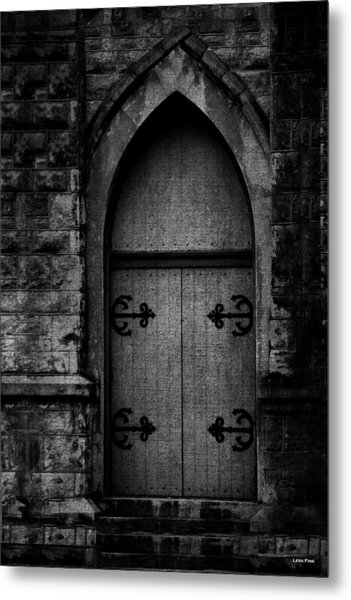 Gothic Door Memphis Church Bw Metal Print
