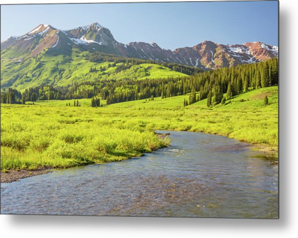 Gothic Valley - Early Evening Metal Print