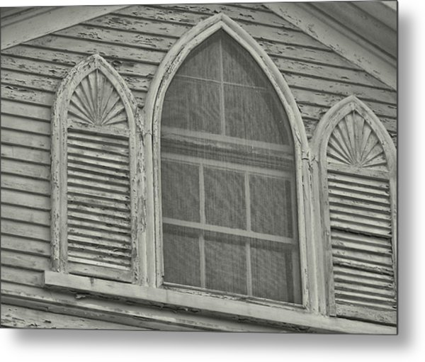 Nantucket Gothic Window  Metal Print by JAMART Photography