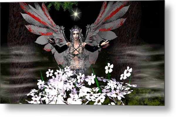 Gothick Fairy Metal Print by Eva Thomas