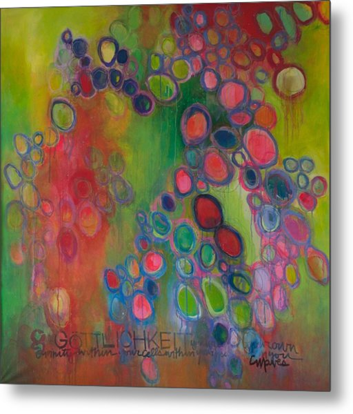 Metal Print featuring the painting Gottlichkeit by Laurie Maves ART