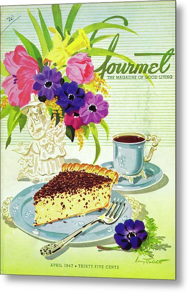 Gourmet Cover Of Cream Pie Metal Print