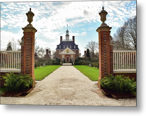 Governor's Palace In Williamsburg, Virginia Metal Print