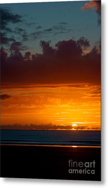 Gower Sundown Metal Print