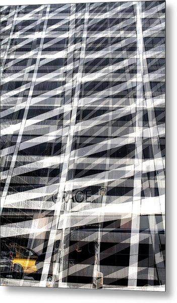 Grace Building Collage 2 Metal Print