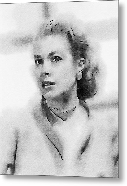 Grace Kelly By John Springfield Metal Print