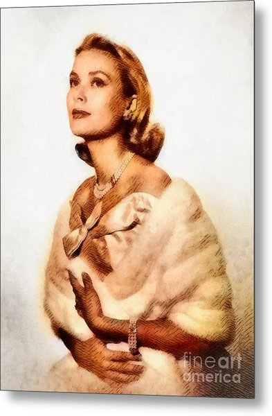 Grace Kelly, Vintage Actress By John Springfield Metal Print