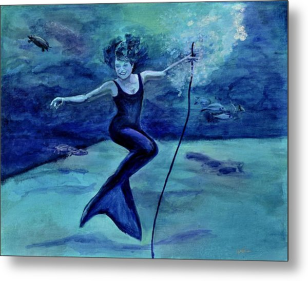 Grace Under Water Metal Print