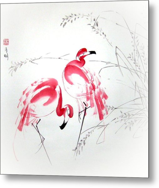 Graceful Pair Metal Print by Ming Yeung