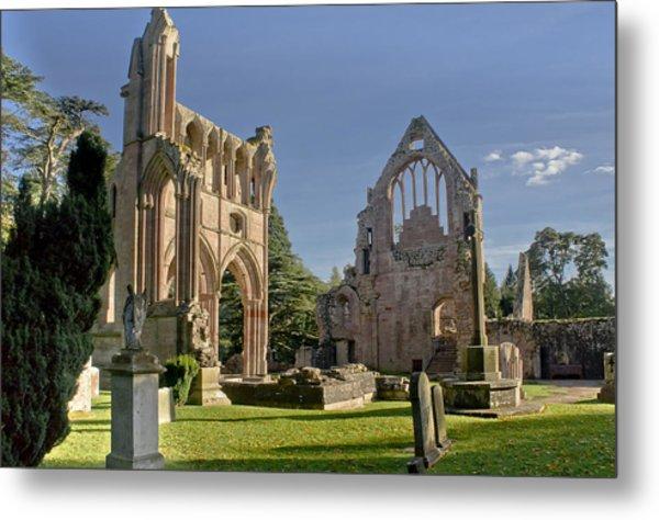 Graceful Ruins. Dryburgh Abbey. Metal Print