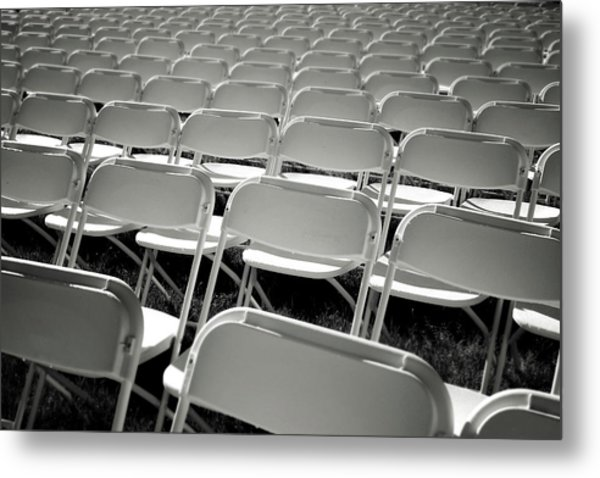Graduation Day- Black And White Photography By Linda Woods Metal Print