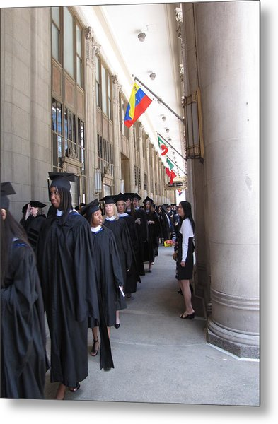 Graduation In Chi-town Metal Print by Sylvia Wanty