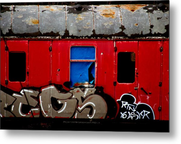 Graff Train Metal Print by Jez C Self