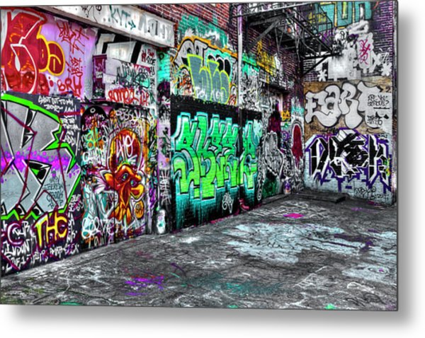 Graffiti Alley Metal Print