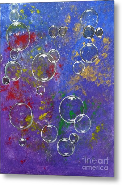 Graffiti Bubbles Metal Print