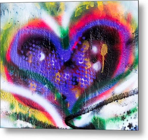 Graffiti Heart Metal Print