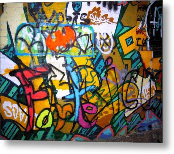 Graffiti In A Baltimore Alley Metal Print