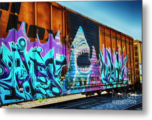 Graffiti Riding The Rails Metal Print