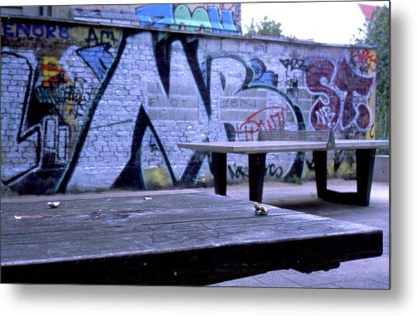 Graffiti Table Metal Print