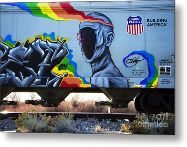 Grafitti Art Riding The Rails 2 Metal Print