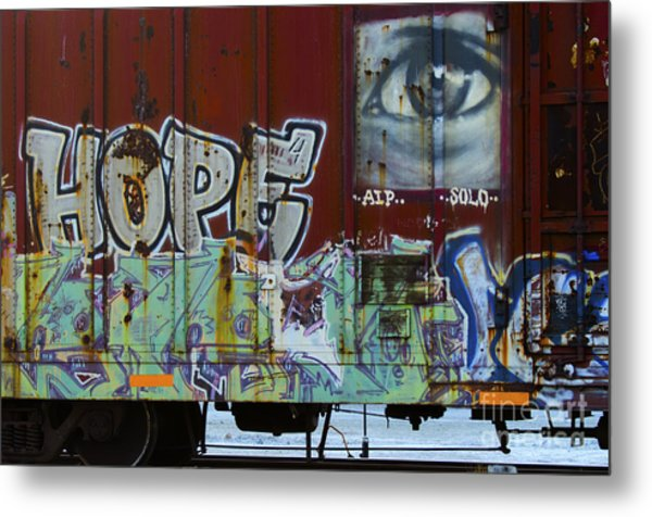 Grafitti Art Riding The Rails 6 Metal Print