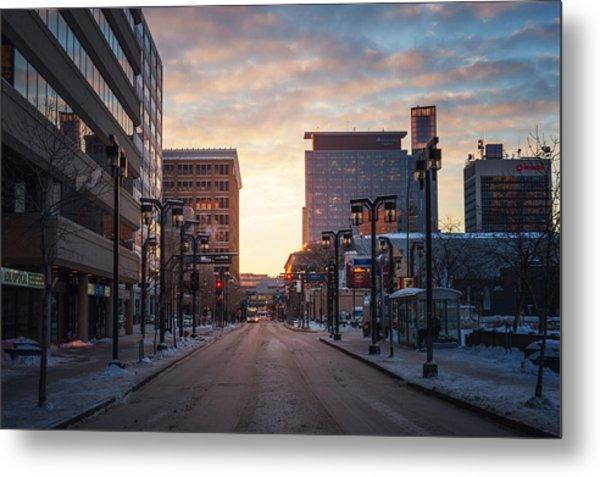 Graham Avenue Sunset Metal Print by Bryan Scott