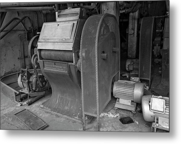 Grain Equipment Black And White Metal Print