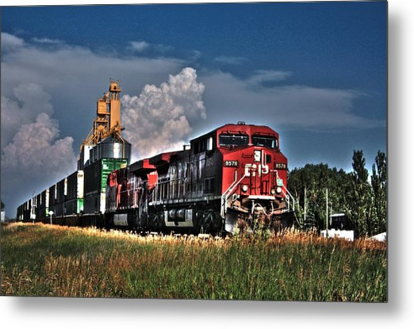 Grain Train Metal Print
