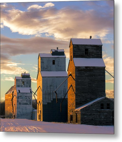 Grainery Row Square Metal Print