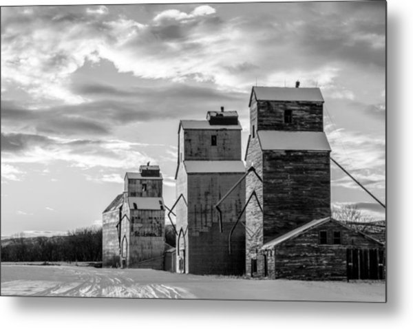 Granary Row In B W Metal Print