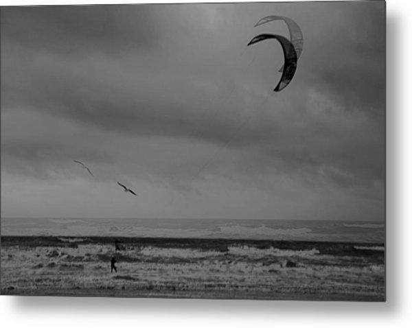 Grainy Wind Surf Metal Print