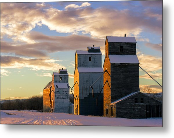 Granary Row Metal Print